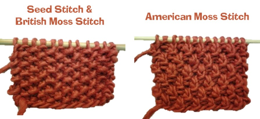 Knitting Moss Stitch How To : Seed Stitch vs. Moss Stitch: Is There A Difference?
