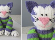 Share Kitty knitted soft toy | the knitting space