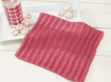 simple knit sorbet dishcloth | the knitting space