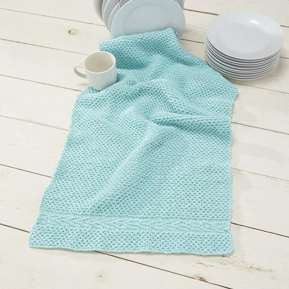 Knit Kitchen Towel Patterns : Knit Slip Stitch Dish Towel [FREE Pattern]