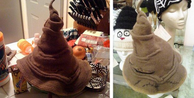 Harry Potter knitted sorting hat | the knitting space
