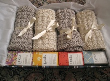knitted spa day facecloths | the knitting space