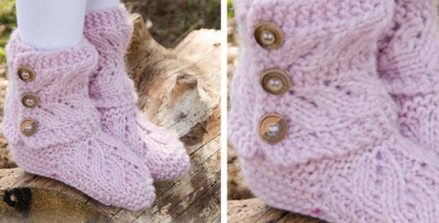 Strawberry Pudding knitted slippers | the knitting space
