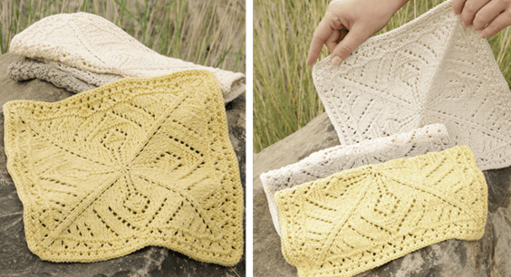 knit thistle washcloth | the knitting space