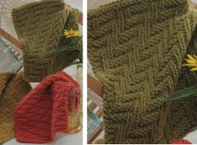 knitted textured dishcloth trio | the knitting space