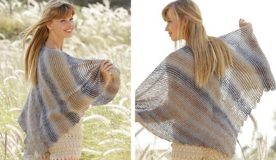 knitted striped shawl | the knitting space