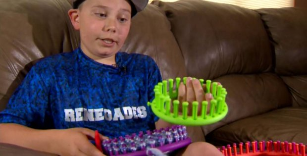 10-year-old boy knits caps | the knitting space
