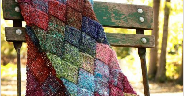Knitted Entrelac Scarf Free Pattern Video Tutorial