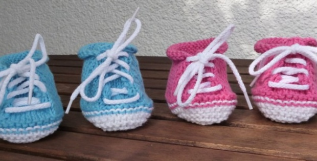 Free Pattern Knit Cute Baby Booties