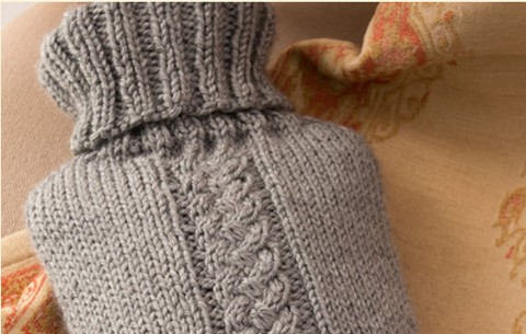 Knit Hot Water Bottle Cover Free Knitting Pattern