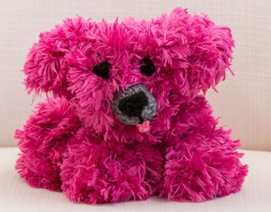 Free Pattern Knitted Fur Yarn Puppy