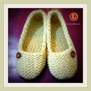 Loom Knit Ladies Slippers Free Pattern