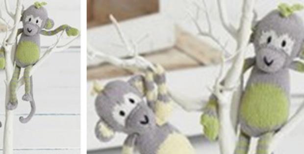 Lovable Knitted Citrus Monkeys Free Knitting Pattern