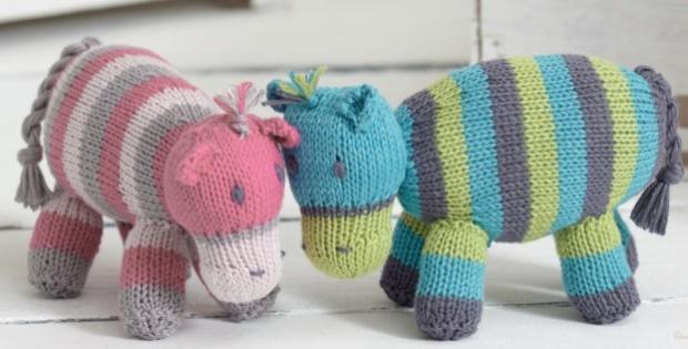 Cute Knitted Noahs Ark Hippos Free Knitting Pattern