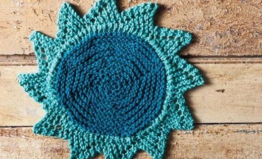 Knit Starflower Dishcloth Free Pattern Video Tutorial