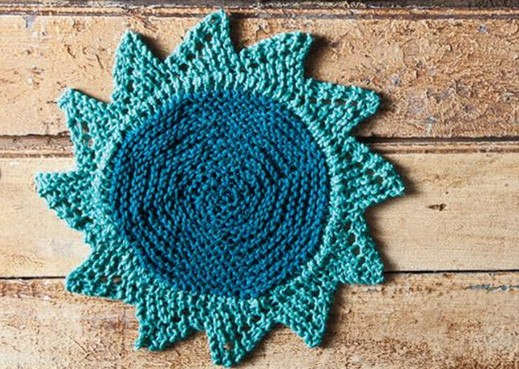 Knit starflower dishcloth free pattern video tutorial dt1010fo