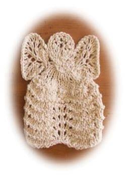 knit dishcloth angel free knitting pattern