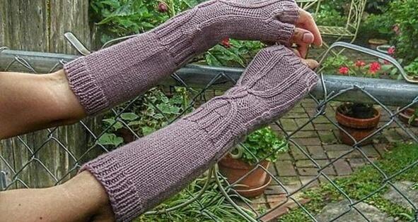 Knit Hour Glass Arm Warmers Free Knitting Pattern