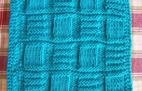 Knit Bamboo Basketweave Dishcloth Free Pattern