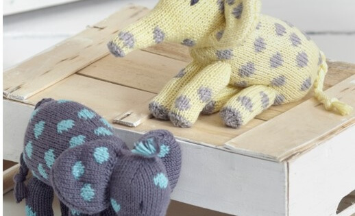 Knit Noahs Ark Elephants Free Knitting Pattern