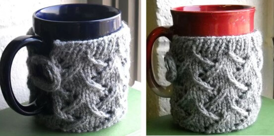 Knit Spring Wind Mug Cozy Free Knitting Pattern