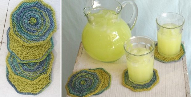 Lovely Seedling Knitted Coasters Free Knitting Pattern
