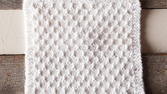 knit snowbank spa cloth | the knitting space