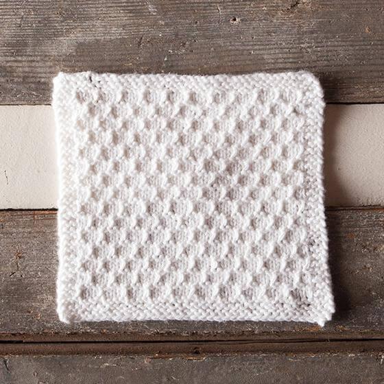 Knit Snowbank Spa Cloth Free Pattern