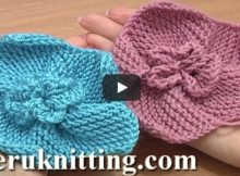 knitted 5-petal garter stitch flower | the knitting space