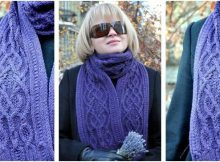 Adelanta knitted cable scarf | the knitting space