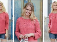 Aftensol knitted lace sweater | the knitting space