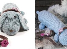 Allie Woof knitted toy dog | the knitting space