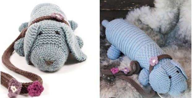Allie Woof Knitted Toy Dog Free Knitting Pattern