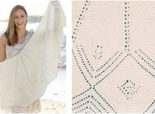 Almeria knitted lace shawl | the knitting space