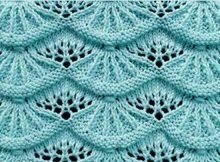 Knitted Alsacian scallops   the knitting space