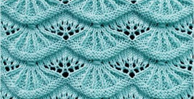 Knitted Alsacian scallops | the knitting space