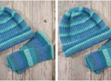 Amarillo knitted warmer set | the knitting space