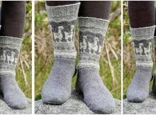 Andean Caravan knitted socks | the knitting space