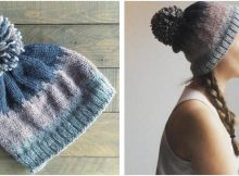 April's Crown knitted pompom beanie | the knitting space