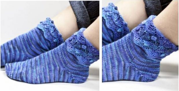 Knitted Ankle Socks Patterns Free : Artichoke Knitted Ankle Socks [FREE Knitting Pattern]