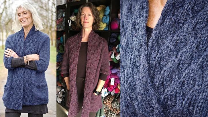 Stylish Knitting Patterns : Stylish Astor Knitted Cardigan [FREE Knitting Pattern]