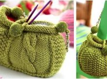 Audrey knitted cabled bag | the knitting space