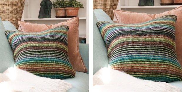 Autumn Lines Knit Cushion Cover Free