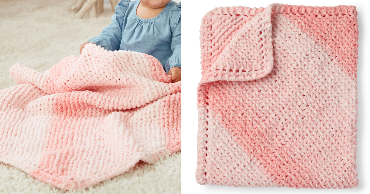 Corner To Corner Knitted Baby Blanket Free Knitting Pattern