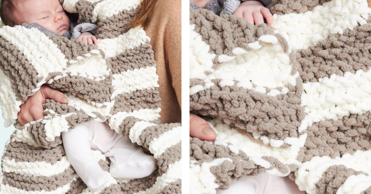 In A Wink Knitted Baby Blanket Free Knitting Pattern