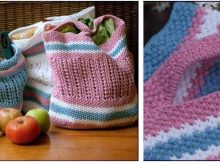 BYOB knitted shopping bags | the knitting space