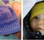 Baby Amanda knitted lace hat | the knitting space