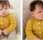 Baby Duck knitted warmers | the knitting space