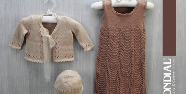 Knitted Baby Dress And Cardigan Free Knitting Pattern
