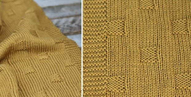 Bryn Simple Knitted Baby Blanket [FREE Knitting Pattern]